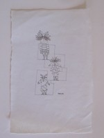"""Wes Wehr,pen on paper,8""""x5"""",1975"""