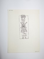 """Wes Wehr,pen on paper,5""""x4"""",1975"""